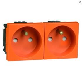 Peha Concept 45 Steckdose Erdungsstift 2fach, orange (B 6272.33 EMS SI)
