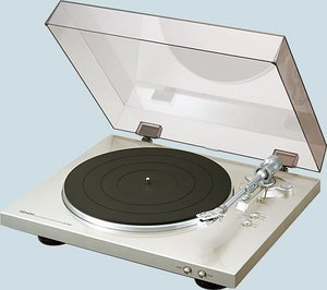 Denon DP-300F Record player silver