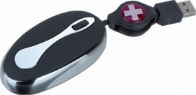 Swiss Travel Mobile Deluxe Mouse, PS/2 & USB (SMM-001)