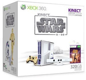 Microsoft Xbox 360 slim - 320GB, Star Wars Kinect Edition Bundle
