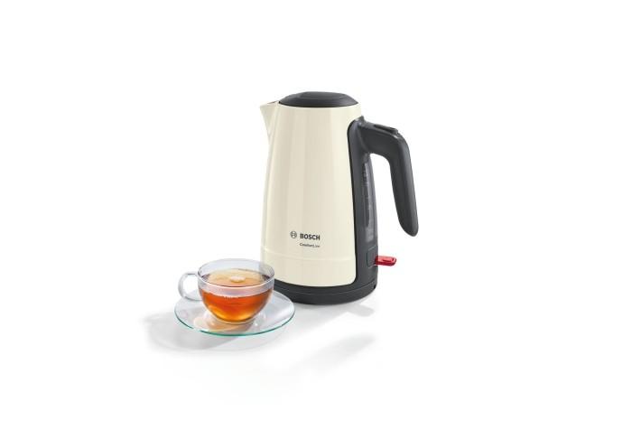 Bosch TWK6A017 ComfortLine Wasserkocher kabellos 1,7 Liter creme