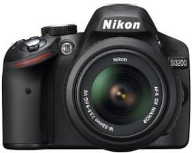 Nikon D3200 schwarz mit Objektiv AF-S VR DX 18-55mm und AF-S VR DX 55-200mm (VBA330K003)