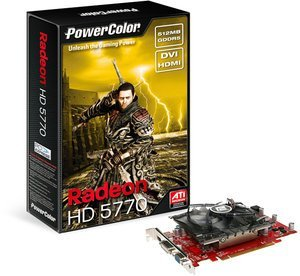 PowerColor Radeon HD 5770, 512MB GDDR5, VGA, DVI, HDMI (AX5770 512MD5-H/R84FB-TE3)
