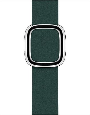 Apple modernes Lederarmband Small für Apple Watch 40mm grün (MTQH2ZM/A)