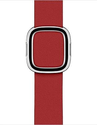 Apple modernes Lederarmband Small für Apple Watch 40mm rot (MTQT2ZM/A)