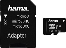 Hama R80 microSDHC Photo 16GB Kit, UHS-I, Class 10 (124150)