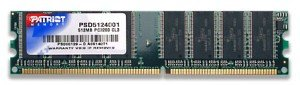 Patriot DIMM 1GB, DDR-400, CL3 (PSD1G400)