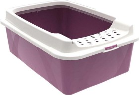 rotho mypet cat litter box Bonnie with cover frame, pink/white (40022.03019)