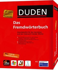 Duden - the dictionary of foreign words (German) (PC/MAC/LINUX)