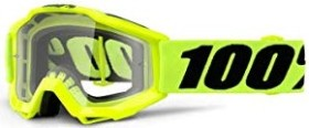 100% Accuri Goggle fluo yellow/clear lens (Junior) (50300-004-02)