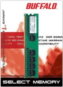 Buffalo DIMM 1GB, DDR2-800, CL5-5-5-15 (D2U800C-1GA)