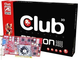 Club 3D Radeon 9800 Pro, 128MB DDR, DVI, TV-out, AGP (CGA-P988TVD)