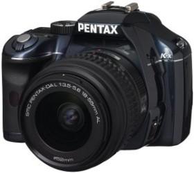 Pentax K-x blau mit Objektiv DA L 18-55mm (16394)