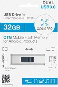 Xlyne OTG Retractable Dual Key 32GB, USB-A 3.0/USB 2.0 Micro-B (7532003)