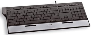 Cherry EASYHUB Corded MultiMedia Keyboard, USB, DE (JK-0100DE)