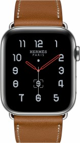Apple Watch Hermès Series 5 (GPS + Cellular) 44mm Edelstahl silber mit Single Tour Armband fauve (MX5C2FD)