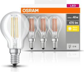 Osram Ledvance LED Base filament Classic P 40 E14 4W/827, 3-pack (819337)