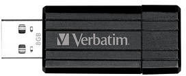 Verbatim Store 'n' Go PinStripe schwarz 64GB, USB-A 2.0 (49065)