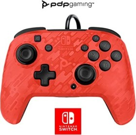 PDP Faceoff Deluxe + Audio Wired Controller red camo (Switch)