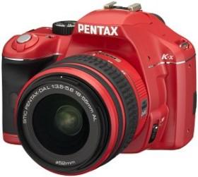 Pentax K-x rot mit Objektiv DA L 18-55mm (16303)