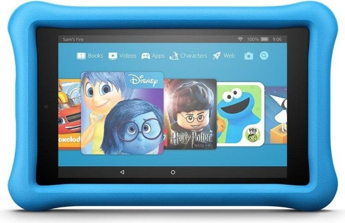 Amazon Fire HD 8 KFKAWI 2018, without Advertising, 32GB, blue, Kids Edition (53-007600)