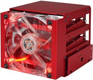 Lian Li EX-332NR red, HDD cage