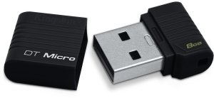 Kingston DataTraveler Micro schwarz   8GB, USB 2.0 (DTMCK/8GB)
