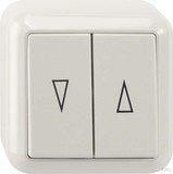 Merten surface mounted blind switch 1-pin, polar white (MEG3755-8719)