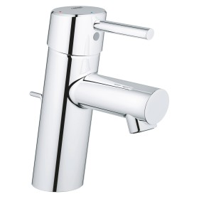 """Grohe Concetto one-hand-bathroom sink tap 1/2"""" S-Size SilkMove ES with drain remote chrome (2338010E)"""