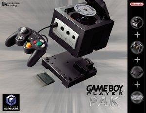 Nintendo GameCube + Gameboy Player zestaw (GC)