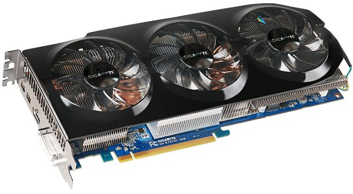 Gigabyte Radeon HD 7970, 3GB GDDR5, DVI, HDMI, 2x mini DisplayPort (GV-R797OC-3GD)