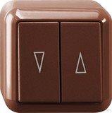Merten surface mounted blind switch 1-pin, brown (MEG3755-8717)
