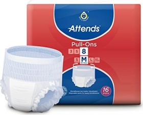 Attends Pull-Ons 8 M protective pants, 64 pieces
