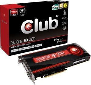 Club 3D Radeon HD 7970, 3GB GDDR5, DVI, HDMI, 2x Mini DisplayPort (CGAX-7977C)