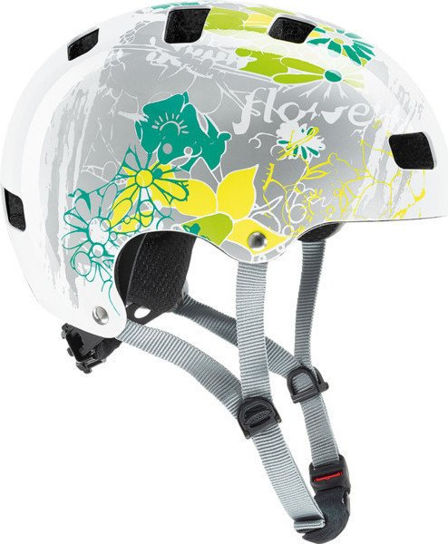 UVEX Kid 3 Kinderhelm white flower