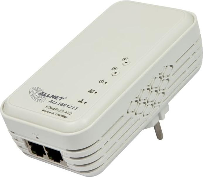 Allnet SmartLink ALL1681211, Homeplug AV2, 2.4GHz/5GHz WLAN, 2x RJ-45 (137500)