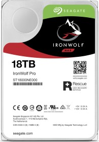 Seagate IronWolf Pro NAS HDD +Rescue 18TB, SATA 6Gb/s (ST18000NE000)
