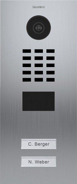 DoorBird D2102V IP Video door terminal with 2 Ruftasten
