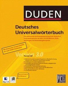 Duden - Deutsches Universalwörterbuch 3.0 (deutsch) (PC/MAC)