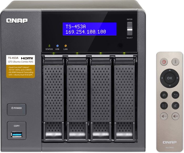 QNAP Turbo Station TS-453A-4G, 4GB RAM, 4x Gb LAN