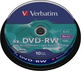 Verbatim DVD-RW 4.7GB 4x, 10er Spindel (43552)