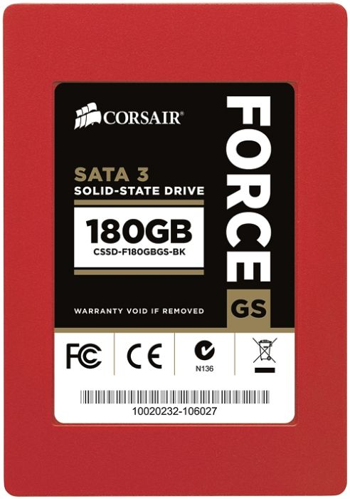 "Corsair Force Series GS 180GB, 2.5"", SATA 6Gb/s (CSSD-F180GBGS-BK)"