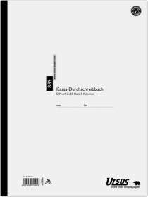 Ursus Kassa-Durchschreibbuch 889 A4 white, 5 Kolonnen, 2x 50 sheets (608136)