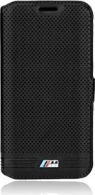 BMW Book Cover Leather perforated for Samsung Galaxy S6 black (BMFLBKS6MPEBIC)