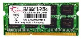 G.Skill SQ Series SO-DIMM 4GB, DDR2-800, CL6-6-6-18 (F2-6400CL6S-4GBSQ)