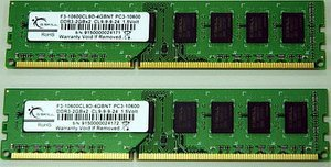 G.Skill Value DIMM Kit   4GB, DDR3-1333, CL9-9-9-24 (F3-10600CL9D-4GBNT)