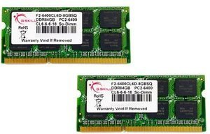 G.Skill SQ Series SO-DIMM Kit 8GB, DDR2-800, CL6-6-6-18 (F2-6400CL6D-8GBSQ)