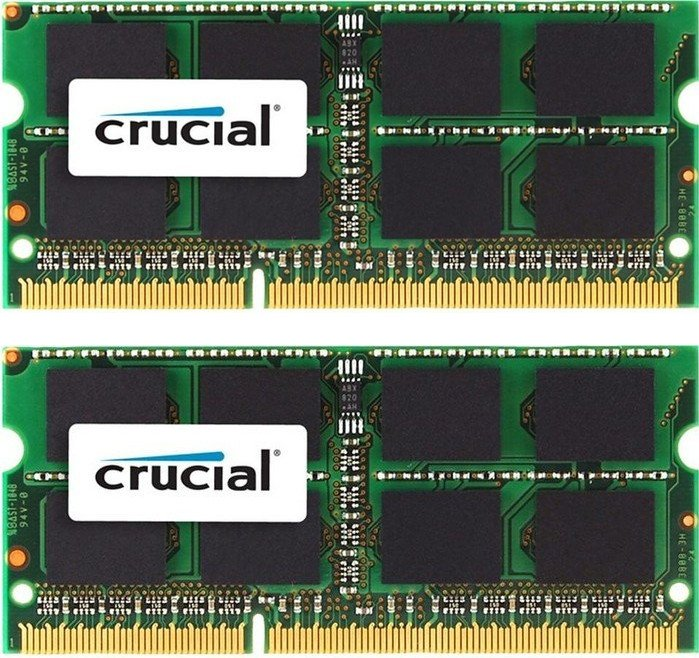Crucial SO-DIMM kit 4GB, DDR3L-1600, CL11 (CT2KIT25664BF160BJ)