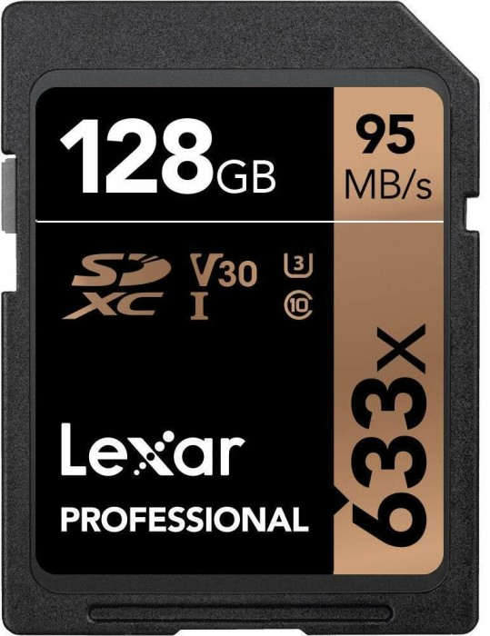 Lexar Professional 633x R95/W45 SDXC 128GB, UHS-I U3, Class 10 (LSD128CBEU633)