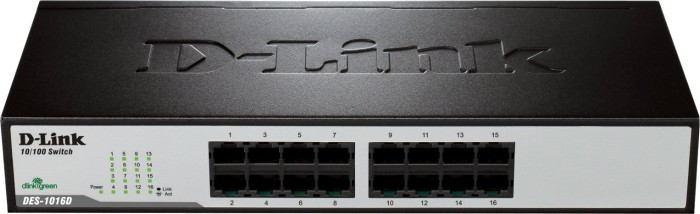 D-Link DES-10 Desktop Switch, 16x RJ-45 (DES-1016D)
